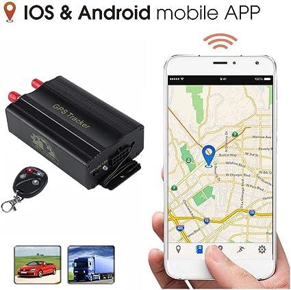 zhenyao GPS Locator, Dispositivo de Seguimiento en Tiempo Real, Coche autobús camión vehículo GPS con aplicación Soporte Andriod e iOS (TK103B): Amazon.es: Coche y moto