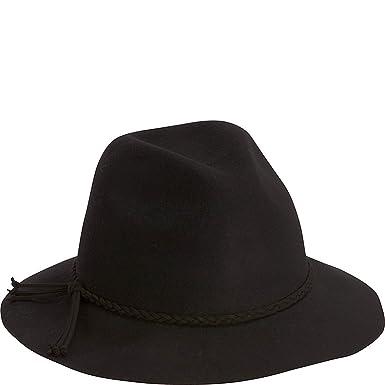 6f00d148a58f8 Adora Hats Wool Felt Safari Hat (One Size - Black) at Amazon Women s  Clothing store