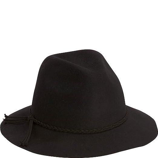 d470f317bc0 Adora Hats Wool Felt Safari Hat (One Size - Black) at Amazon Women s  Clothing store