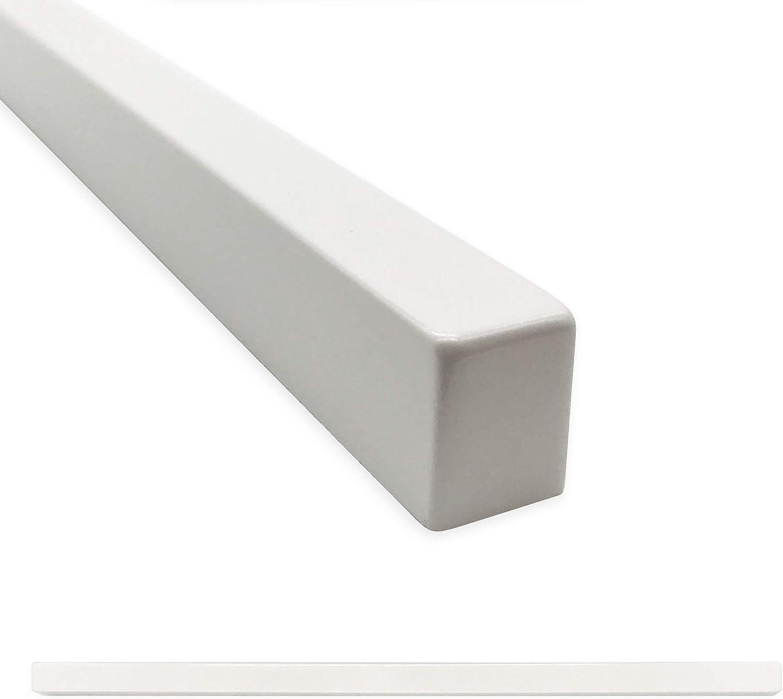 square tile trim 1 2 x 12 inch flat pencil decorative shower ceramic tile edge backsplash liner wall molding polished bright white 12 pack