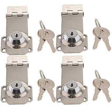 Amazon.com: Kesoto - Juego de 4 cerraduras de acero ...