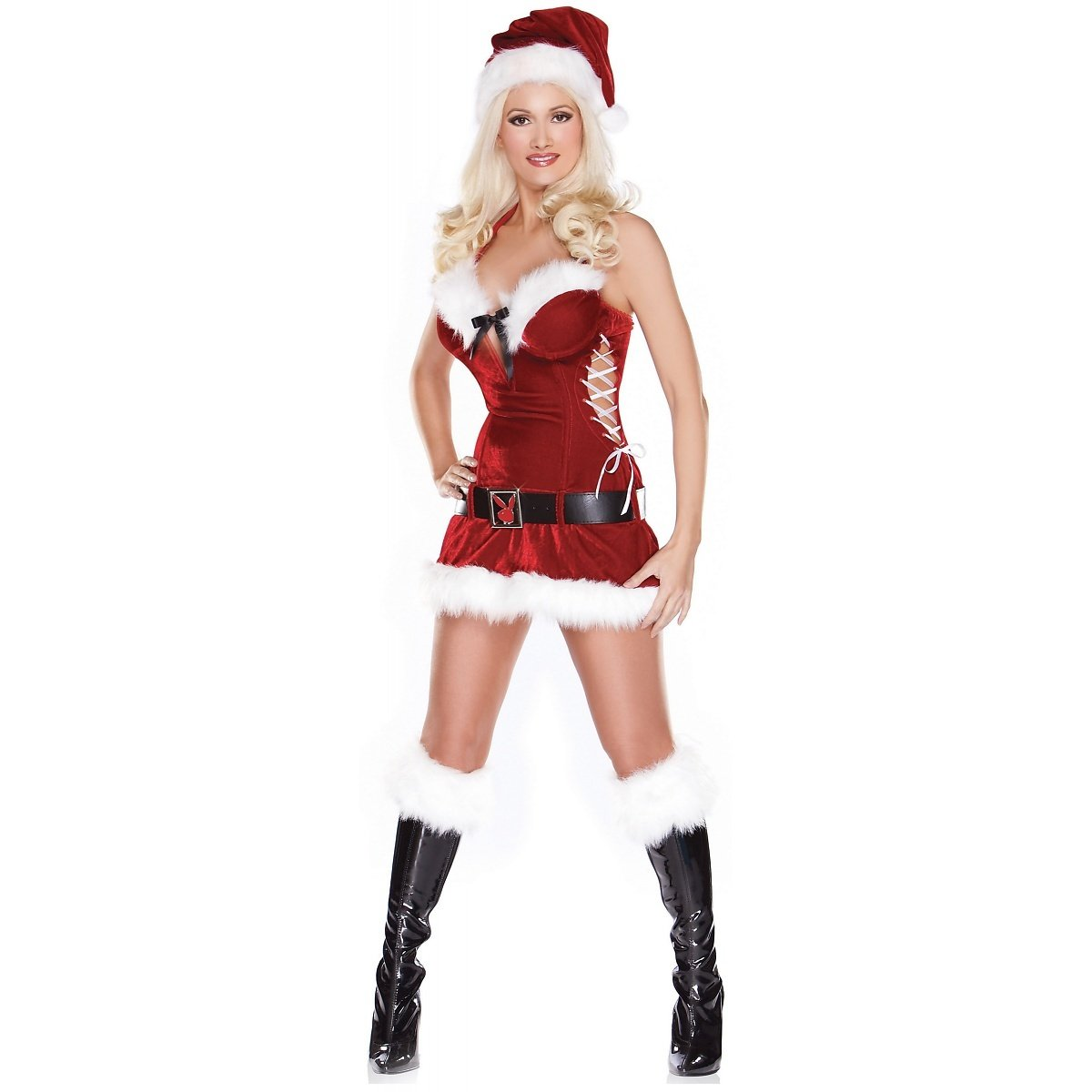 1ce54f70f5e Amazon.com  Fun World Easter Unlimited Playboy Holiday Honey Adult Costume  2-4  Adult Exotic Costumes  Clothing