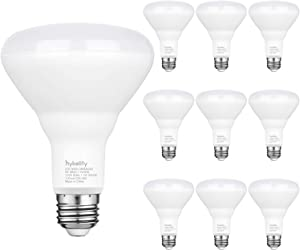 Hykolity 10 Pack Flood Light Bulb, BR30 LED Bulb for Indoor/Outdoor Downlight Recessed Can Light, Dimmable, 11W=75W, 3000K Warm White, 850lm, E26 Base, UL Listed