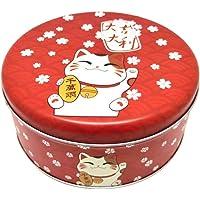 TEHAUX Maneki Neko Bonbondoos Ijzeren Fortuin Kat Geschenkdoos Geluk Kat Cookie Storage Case Favor Doos Voor Droge…