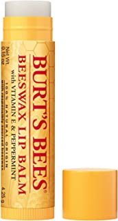 product image for Burt's Bees 100% Natural Origin Moisturizing Lip Balm, Original Beeswax with Vitamin E & Peppermint Oil 0.15 Ounce Tube