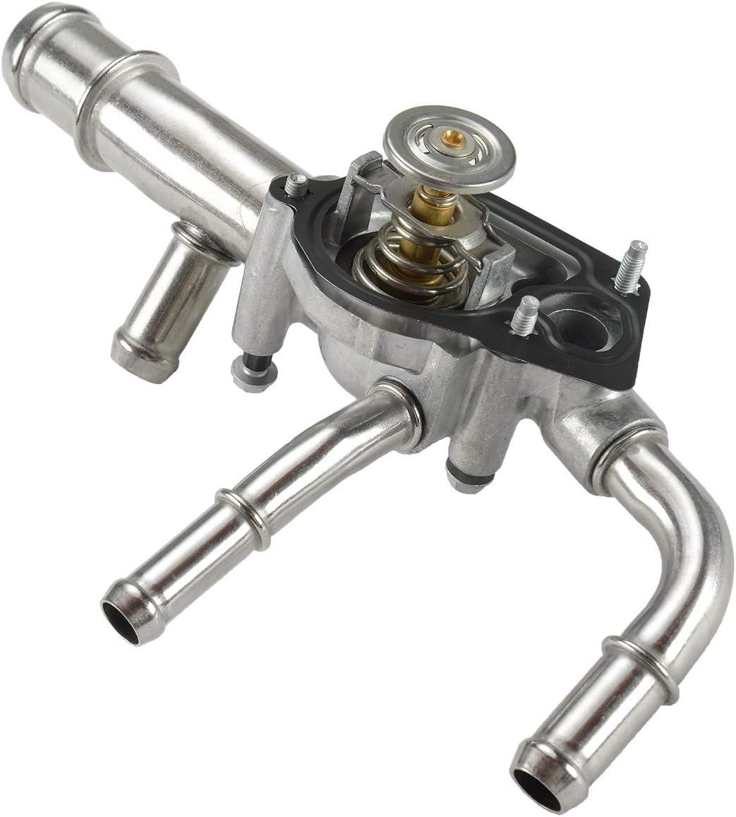 A-Premium Engine Coolant Thermostat Housing Assembly Compatible with Allure LaCrosse Cadillac SRX XTS Equinox Equinox GMC Pontiac Saturn 3.0L 3.6L