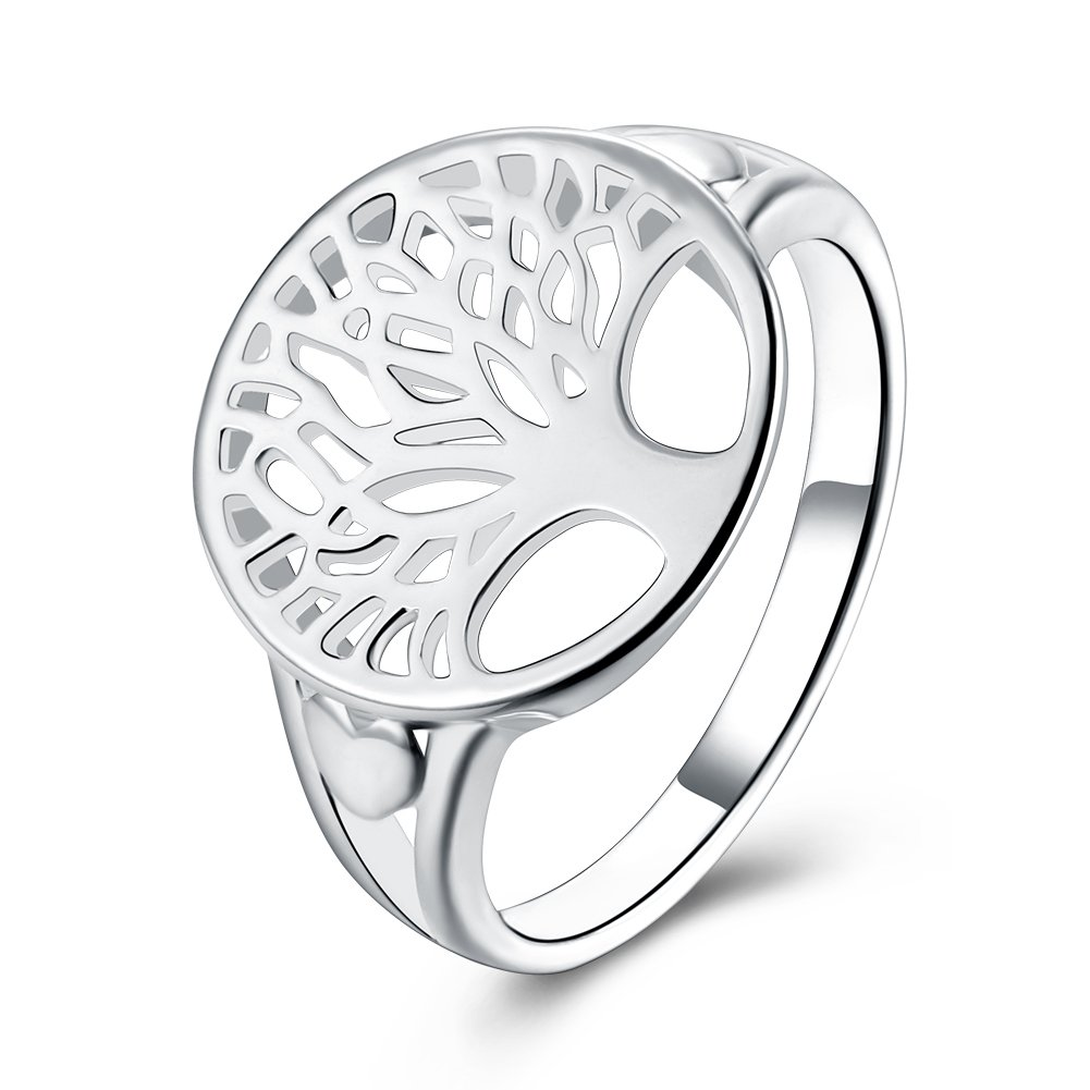 Anillo de compromiso elegante, para hombres y mujeres, romántico