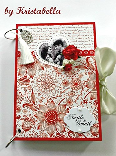 Kristabella Creations A4 ring binder Wedding Scrapbook Album , Wedding Memory Book, Wedding Photo Album, Wedding Keepsake, Wedding Gift by Kristabella Creations