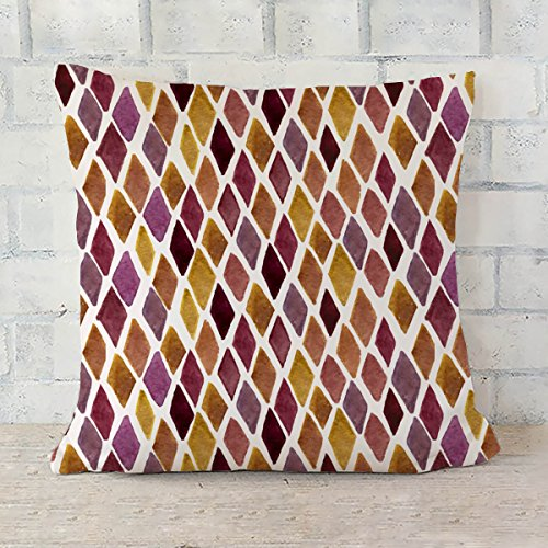 ArtzFolio Checked Cushion Cover Throw Pillow Canvas 24