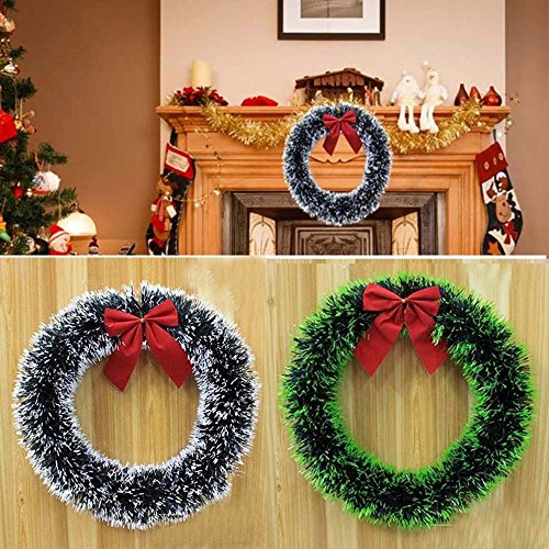Pet Toland- 1PCS- Christmas Wreath Decorations for Home- Accurately Mimics Texture and Color of Natural, Freshly Cut Pine Needles - Green and (Pine Canadian Artificial Wreath)