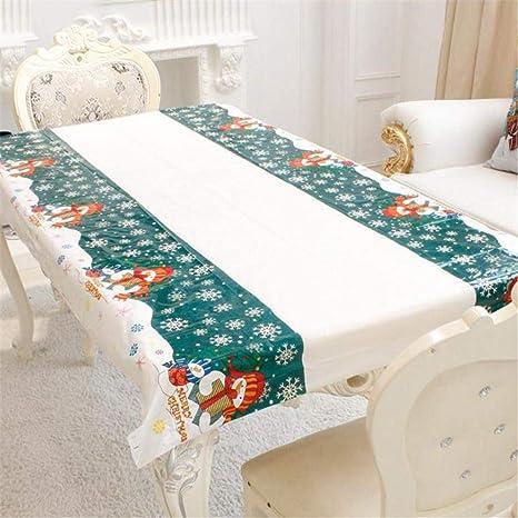 Mantel de Navidad, mantel de adornos, mantel de color puro, ideal para fiestas