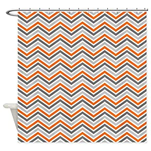 Turquoise And Orange Shower Curtain Abstract art shower curtain