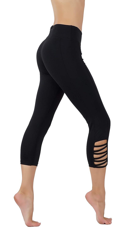 Cf321 C110blk CodeFit Yoga Pants Power Flex DryFit with CRIS Cross Leg Cutouts 7 8 Length Soled color Leggings Key Pocket