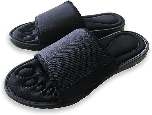 Men US Shoe Size Adjustable Light Foam Slide Sandals Comfort Flip Flops NEW