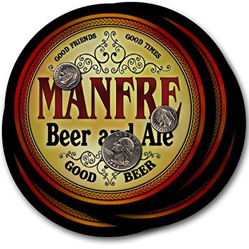 Manfreビール& Ale – 4パックドリンクコースター   B003QXP1MK