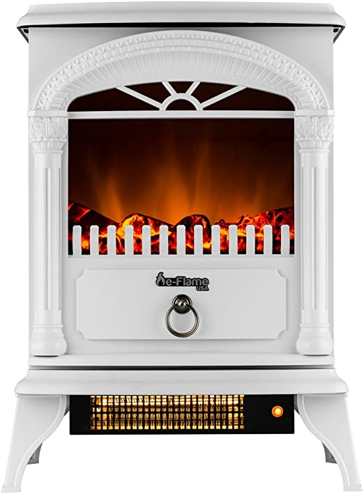 e-Flame USA Hamilton Free Standing Electric Fireplace Stove 1500W