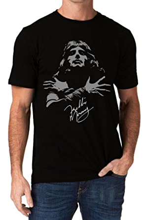 204b66bb Amazon.com: UD Gate Freddie Mercury Queen Band Autograph Sign Men's T-Shirt:  Clothing