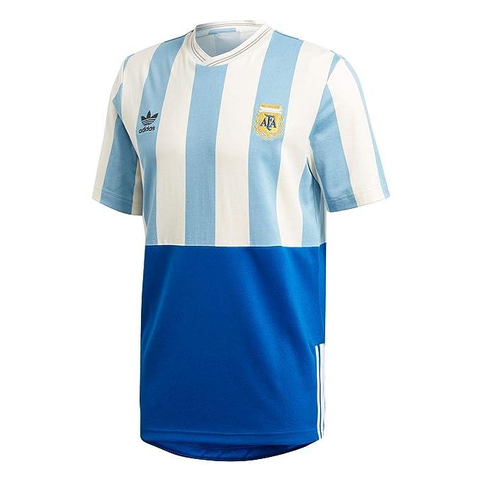 adidas Camiseta Argentina Mashup beige/azul/azul talla: M (Medium)