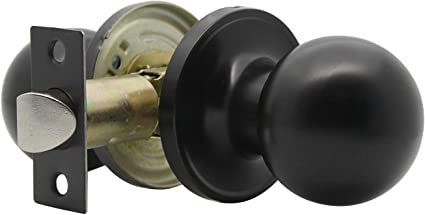 Matte Black,Passage Lock Knob