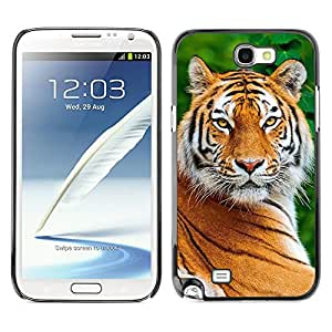 Planetar® ( Tiger Smart Big Cat Nature Animal Africa ) SAMSUNG Galaxy Note 2 II / N7100 Fundas Cover Cubre Hard Case Cover