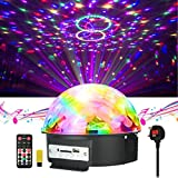 Disco Lights , JELEGAN LED Stage Light Crystal Magic Ball Lamp MP3 Player Sound Activated Auto Flash Rotating RGB Strobe Light for Wedding Home Birthday Party KTV Club DJ Pub Show