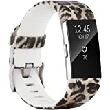 Baaletc Replacement Accessory Band/ Interchangeable Wristband Bracelet Strap with Metal Watch Clasp for Fitbit Charge 2 Fitness Tracker