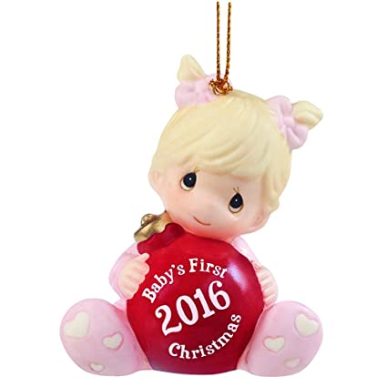 precious moments babys first christmas 2016 baby girl bisque porcelain ornament