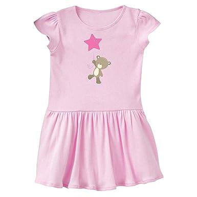 inktastic Cute Bear Holding Pink Star Balloon Baby T-Shirt