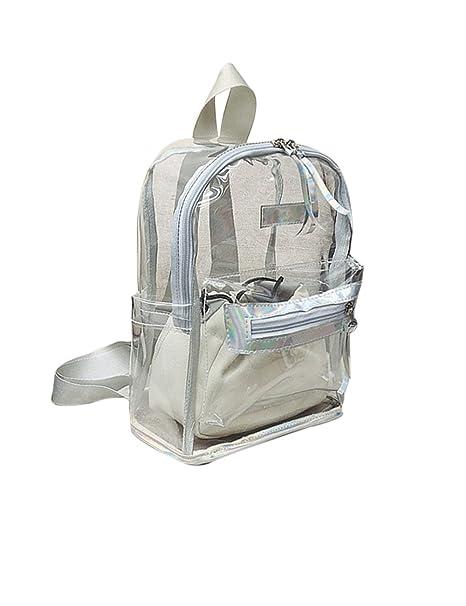 scarpe di separazione bb940 c2f7f Fashion Clear Zaino Trasparente in PVC Impermeabile Viaggio ...