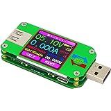 KKmoon UM24 USB電圧電流テスター USB 2.0 カラーLCDディスプレイテスター 電圧計 電流計 マルチマーター バッテリー 充電器 ケーブル インピーダンス測定 容量テスター 非通信バージョン