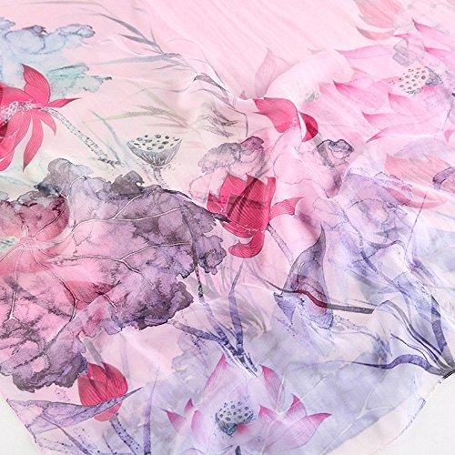 180 Impreso Bufanda solares 110 5 para de Moda primavera protectores de sol 15 Resistente los y Todos colores 13 al cm verano seda elegante de playa mujer Estilo BqqUzg