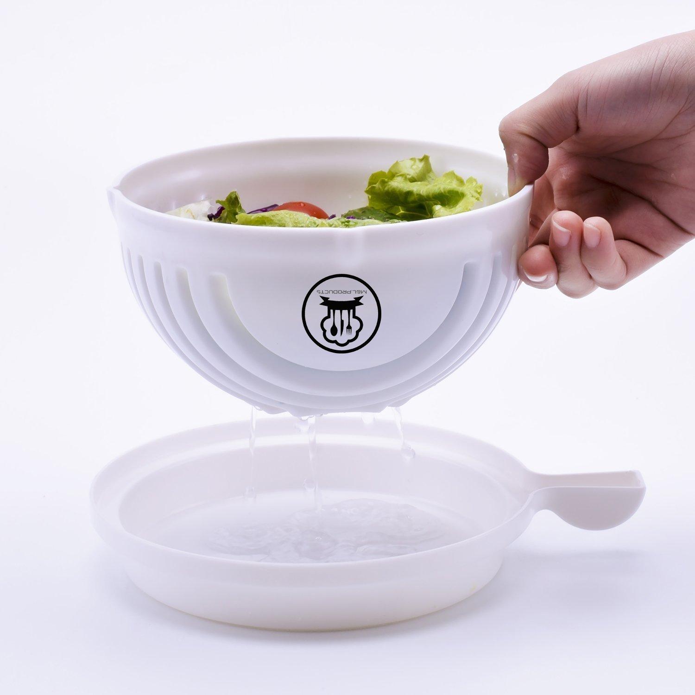 Salad Cutter Bowl - 60 Seconds Salad Maker Fruit Vegetable Bowl Cutter, Salad slicer, Salad Chopper, By ML.PRODUCTS