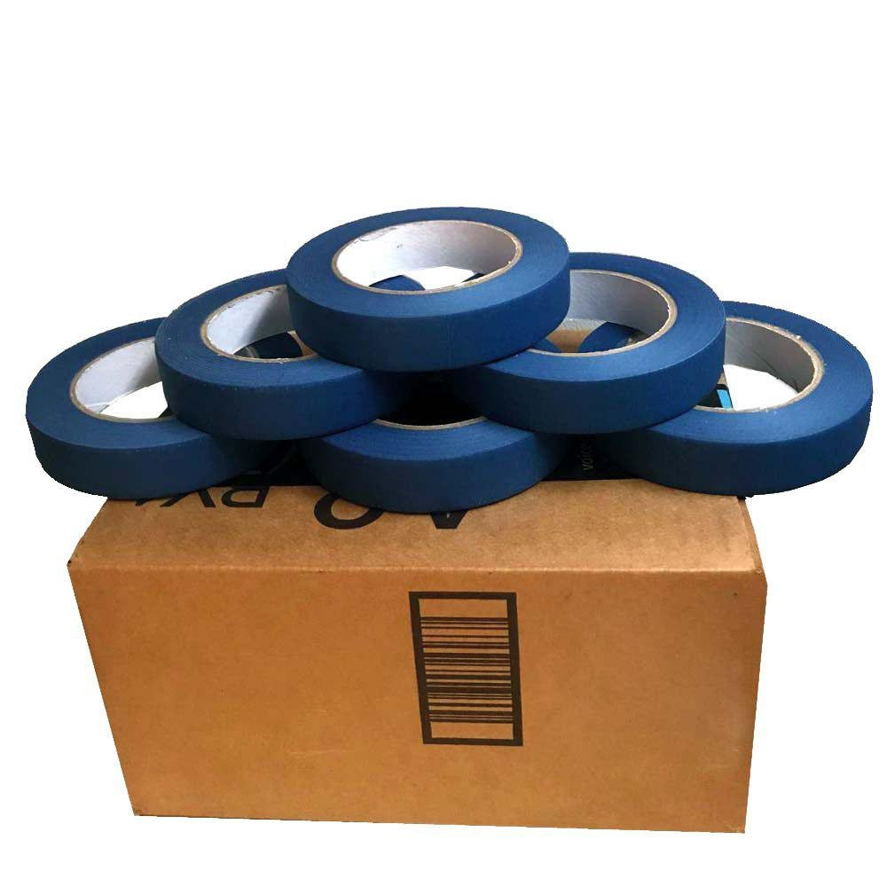 Janna Essentials 6 Rolls 0.94 in. x 60 yard Blue Painters Tape, 14 Days UV Resistance No Residue …