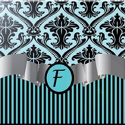 12 x 12 Rikki Knight Teal Blue Color Damask Design Ceramic Art Tile