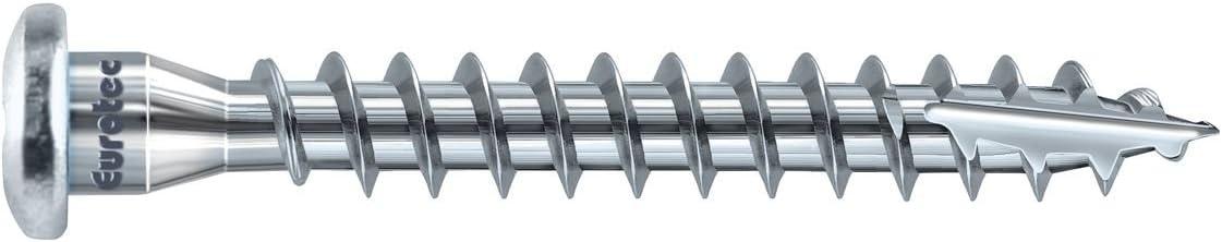 5/x 40/mm 250/unidades acero galvanizado Eurotec /ángulo batiente Tornillo TX20 945241