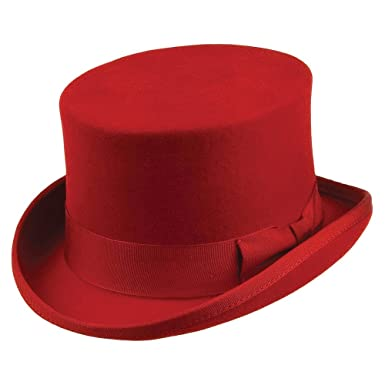 cdf444c818f Jaxon   James Mid Crown Top Hat - Red  Amazon.co.uk  Clothing
