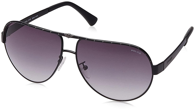 Amazon.com: Police sunglasses S8844 Spark 1 0599 Metal Grey ...