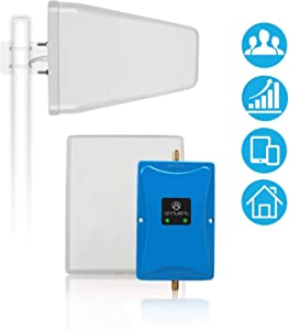 Cell Phone Signal Booster Antenna for Home and Office - Boosts 4G LTE Data and Volte for Verizon AT&T T-Mobile - Dual 700MHz Band 12/13/17 Cellular Repeater Amplifier Kit Cover Up to 5,000Sq Ft