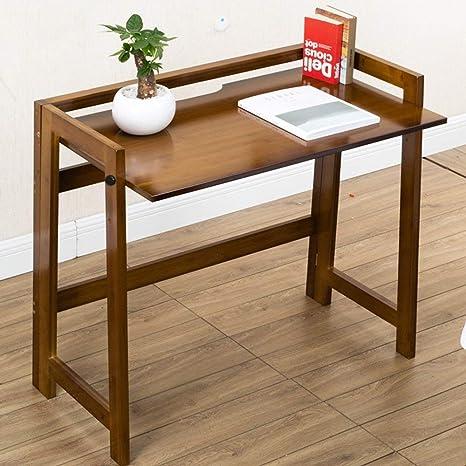 SED Mesa pequeña, Escritorio Plegable de bambú, Escritorio de la ...