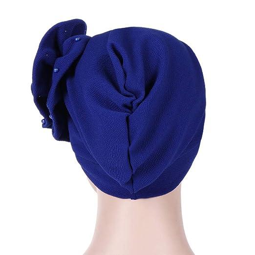 Schlaf Haarausfall Elsta/_Hat Turban kopft/ücher Kopftuch Damen Chemo Silk Polyester Bandana Hut,Chemotherapie Elegant Turban Hijab f/ür Krebs Muslim