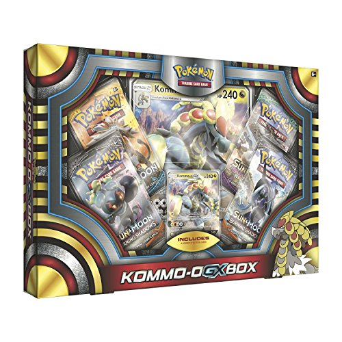 Card Pearl Foil Promo (Pokemon TCG: Ultra Sun & Moon o Box | Includes 4 Expansion Boosters |, Featuring Rare Kommo-o-GX Foil Card Plus an Oversize Collectible Kommo-o-GX Foil)