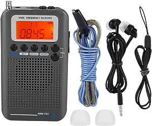 【𝐂𝐡𝐫𝐢𝐬𝐭𝐦𝐚𝐬 𝐆𝐢𝐟𝐭】 Receptor de Radio de Banda de Aire, Air FM Am CB SW VHF Banda Completa Radio de Viaje portátil Receptor de Radio de Banda de ...
