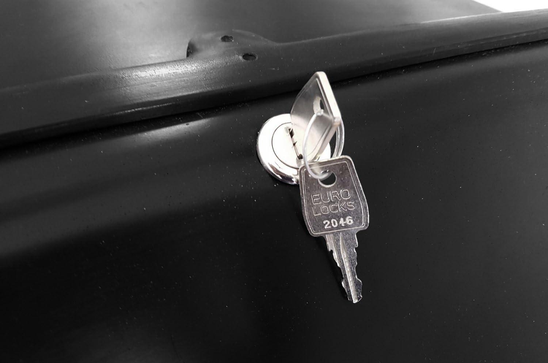 chiusura serratura Portapacchi Moto Baule reparto Nero//Nero con catarifrangenti rimorchi omologati