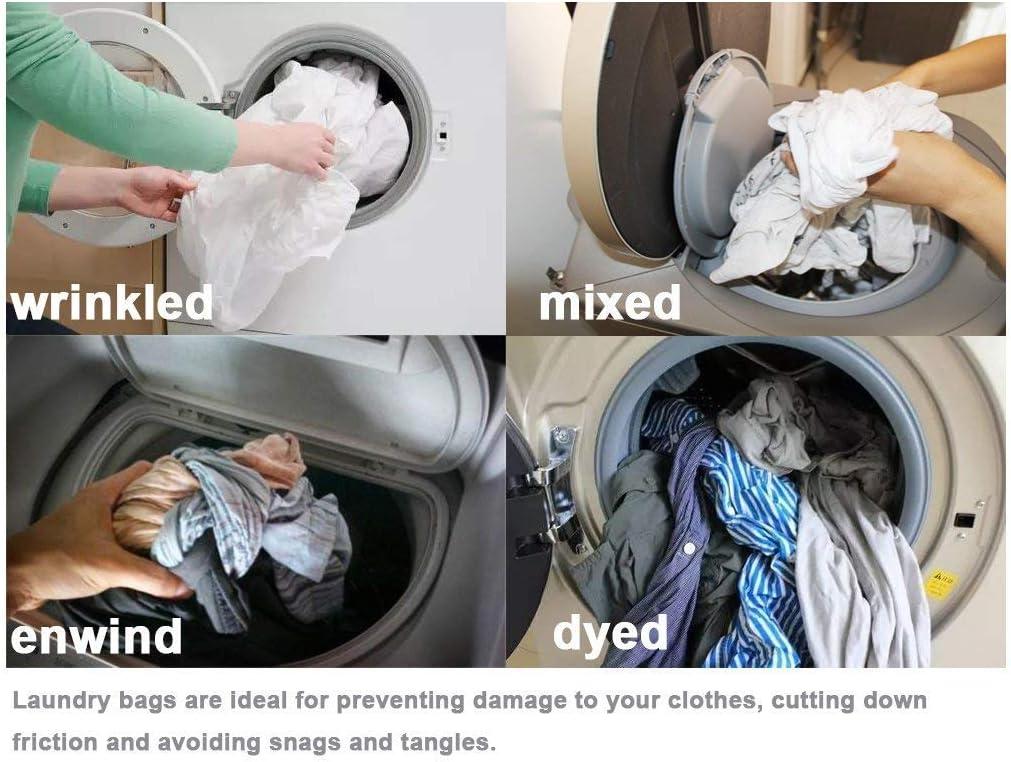 White-2pcs Meowoo Bolsa de Malla con Cord/ón Bolso de Ropa Bolsa de Lavander/ía Blanco para Lavadora Camisas Se Usa Para Lavar Ropa Interior Calcetines