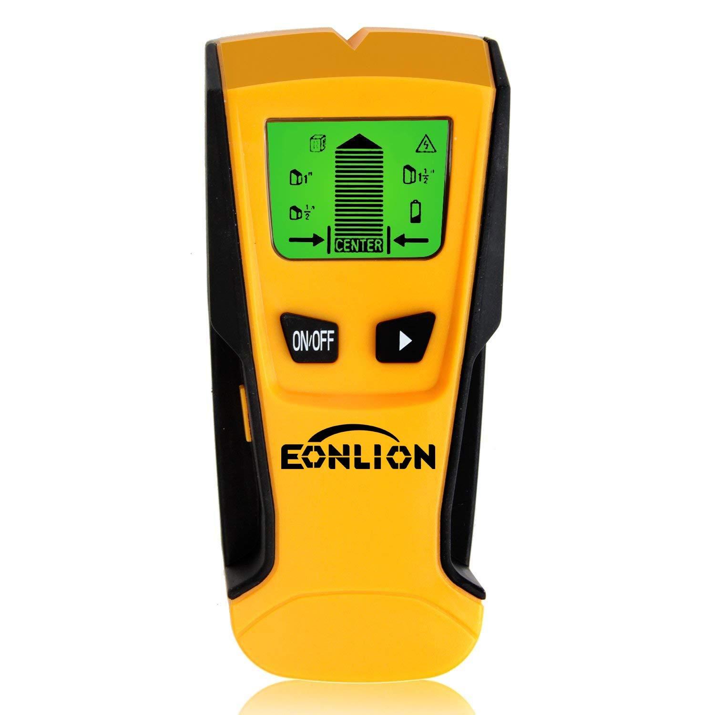 Stud Finder Wall Detector - EONLION Goldpar Electric Multi Function Wall Scanner Finders with Digital LCD Display, Center Finding Stud Sensor, Metal Stud & Live AC Wire & Wood Scanner Detection