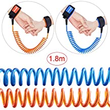Austor 2 pack Baby Child Anti Lost Wrist Link Safety Harness Strap Rope Leash Walking Hand Belt, 1.8 M