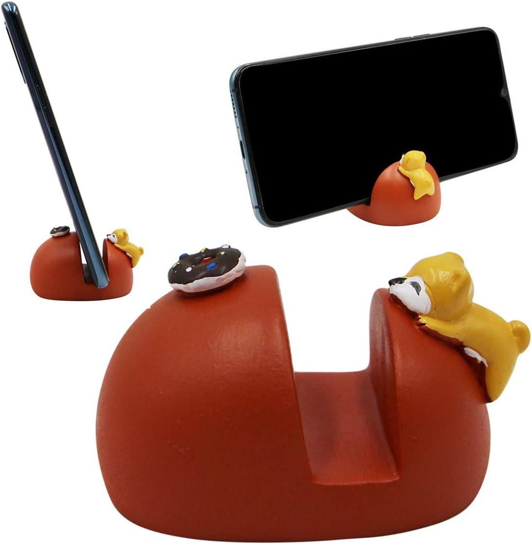 Cute Lovely Cartoon Resin Cell Phone Stand Holder Desktop Tablet Office Decor Home Ornament