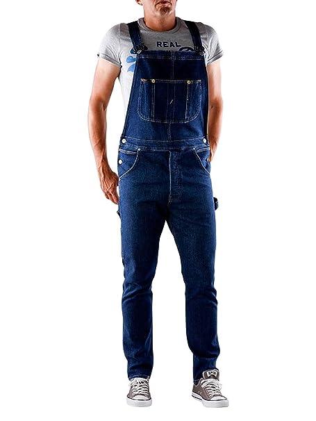 Turnschuhe 2018 sehen Outlet-Store Lee Herren Rider Latzhosen Jeans-Latzhose L72ZRDJL - Dunkles Indigoblau Blau