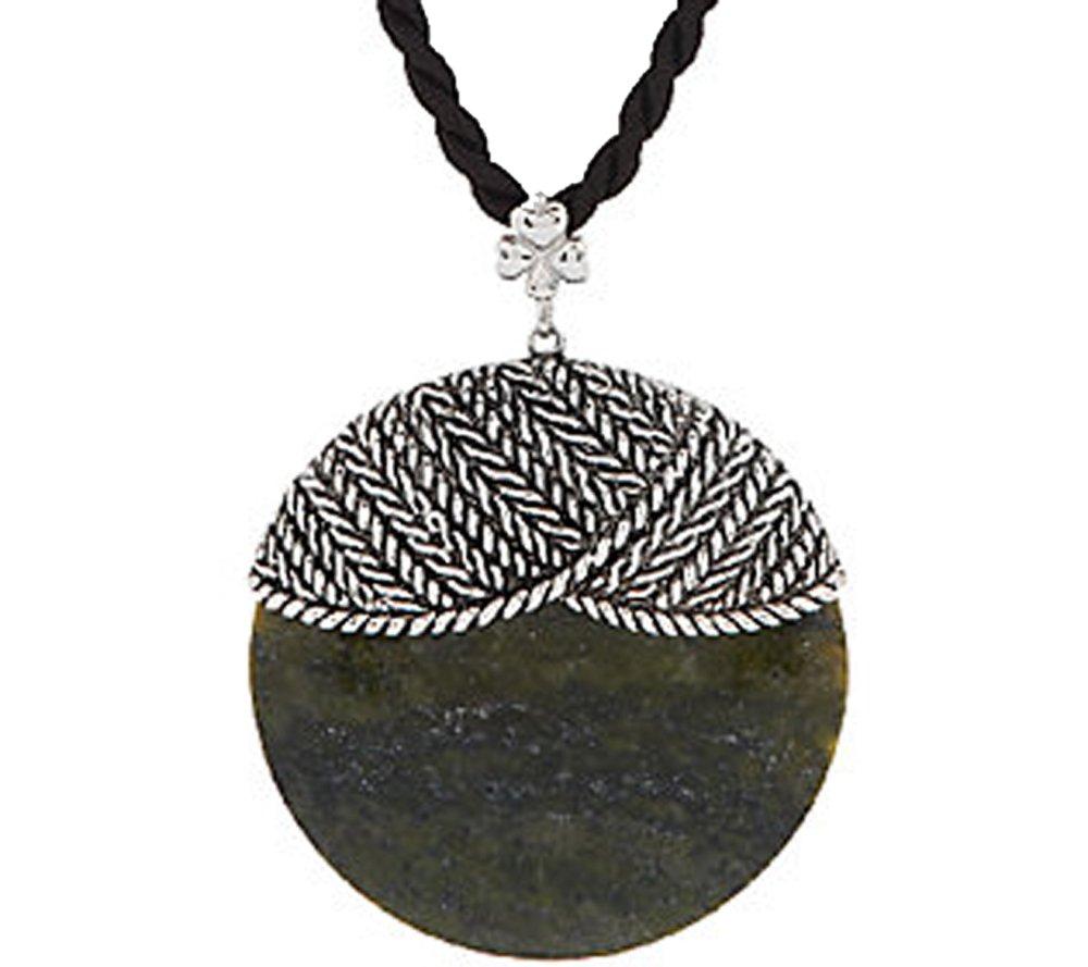 Irish Connemara Marble: ''Aran Jacket'' Pendant Necklace… by Connemara