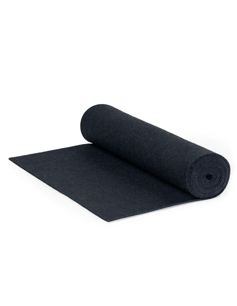 F-55 Industrial Felt by the Foot - 72'' Wide x 15 ft Long x 1/16'' Thick - Black